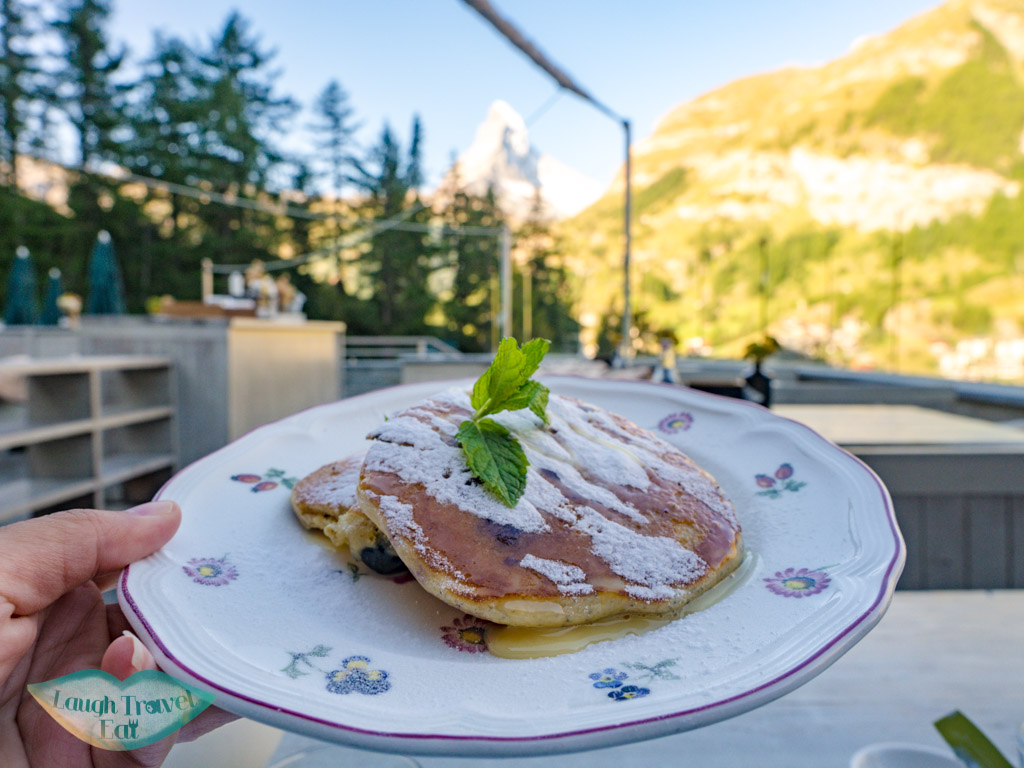 break-fast with a view cervo zermatt witzerland - laugh travel eat