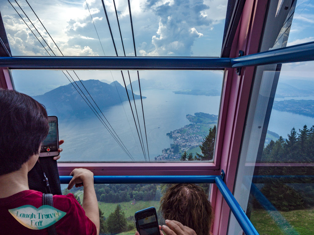 cable car to weggis lucerne switzerland - laugh travel eat