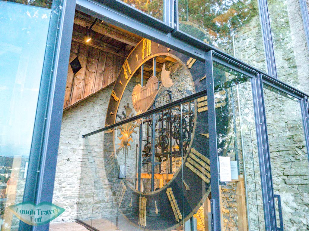 clock Musegg Wall and Towers lucerne switzerland - laugh travel eat