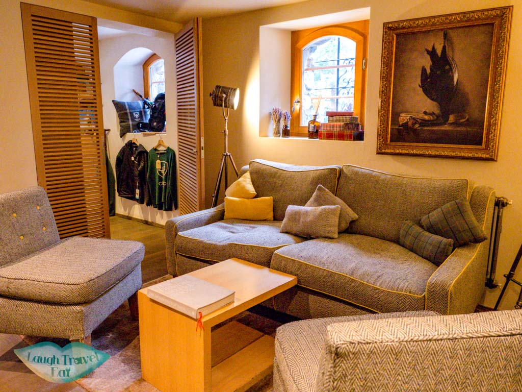 cozy reception Cervo Zermatt Switzerland - laugh travel eat