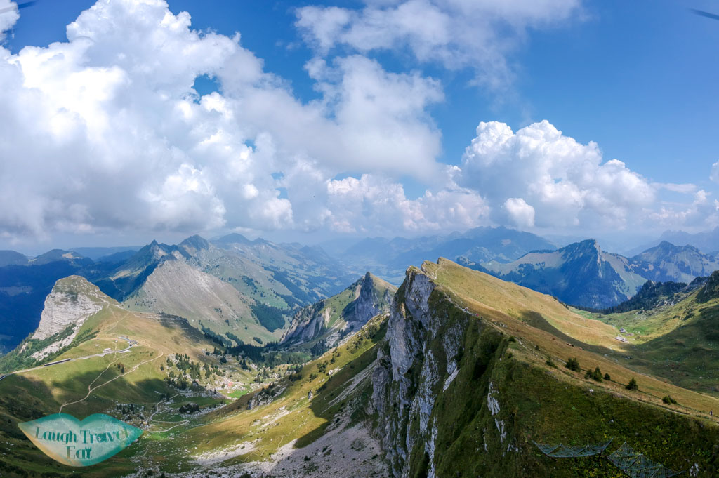 drone shot Rochers de Nayes Mfrom ontreux Switzerland - laugh travel eat