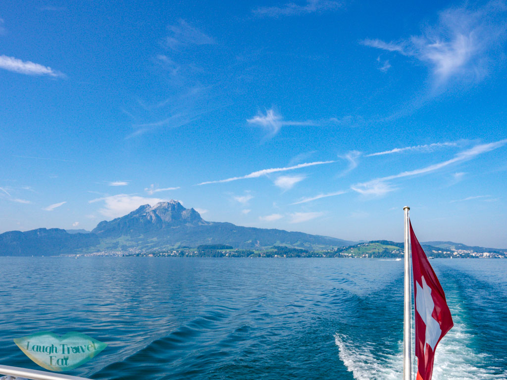 ferry on lake lucerne switzerland - laugh travel eat