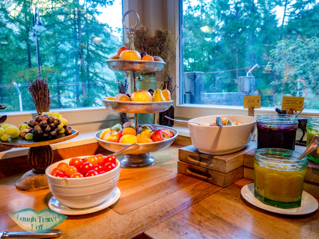 fruit and jam selection breakfast Cervo Zermatt Switzerland - laugh travel eat