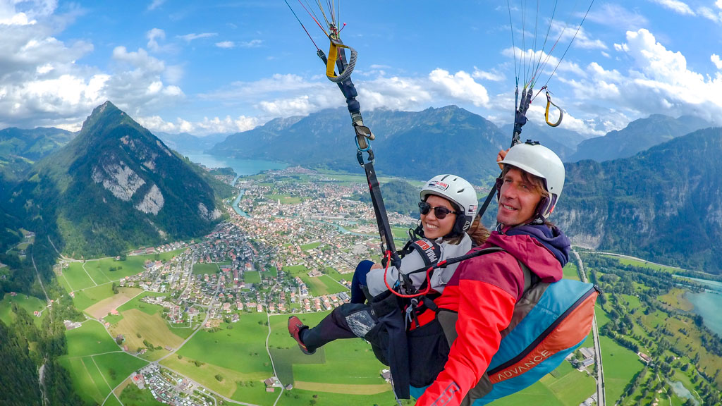 going paragliding interlaken Switzerland - laugh travel eat