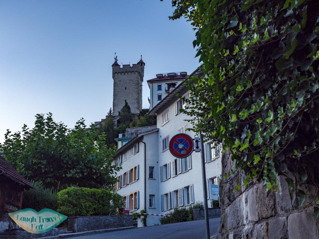 going up the Musegg Wall and Towers lucerne switzerland - laugh travel eat