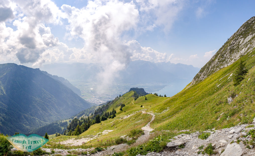 hiking down from Rocher de Nayes Montreux switzerland - laugh travel eat