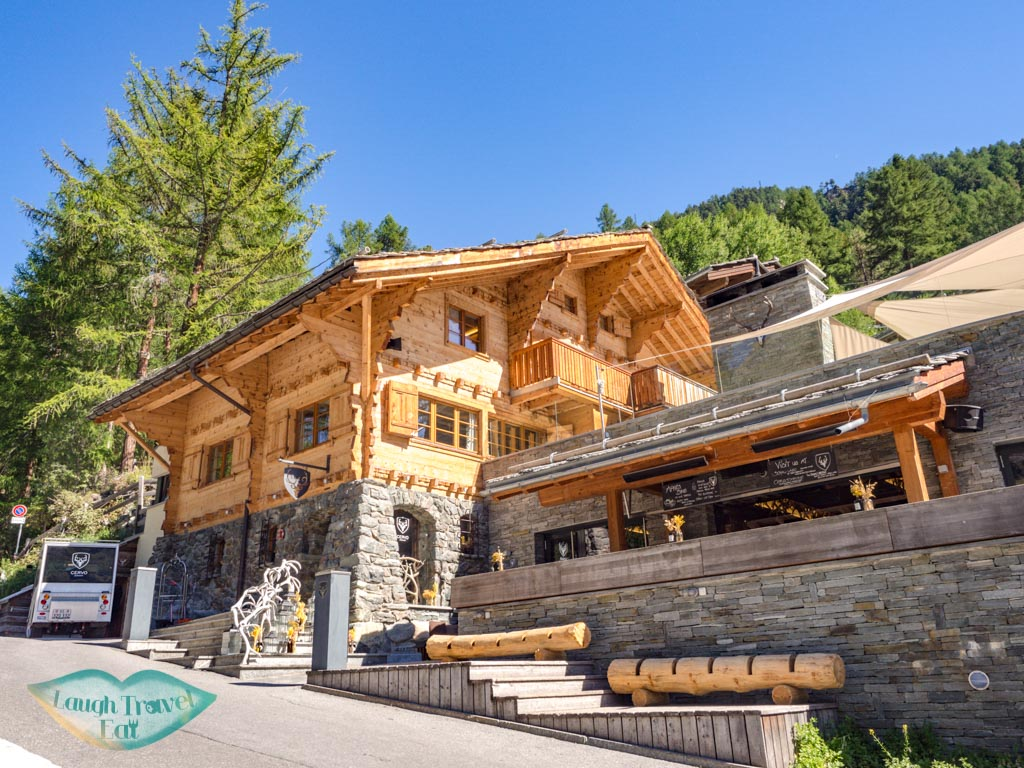 main building and restaurant cervo zermatt witzerland - laugh travel eat