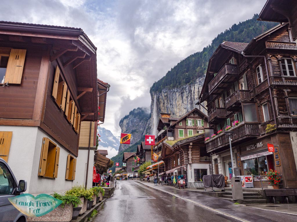 main street lauterbrunnen switzerland - laugh travel eat
