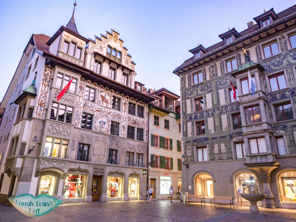 old town lucerne switzerland - laugh travel eat