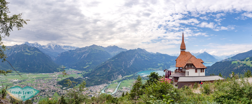panorama of harder kulm interlaken switzerland - laugh travel eat
