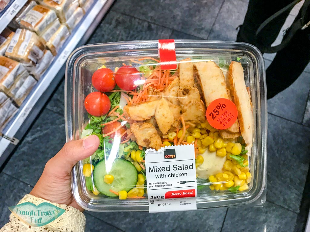 salad 25% off at Co Op Switzerland - laugh travel eat