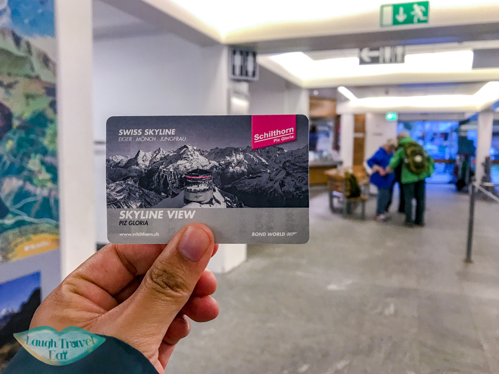 ticket to go up Schilthorn Switzerland - laugh travel eat