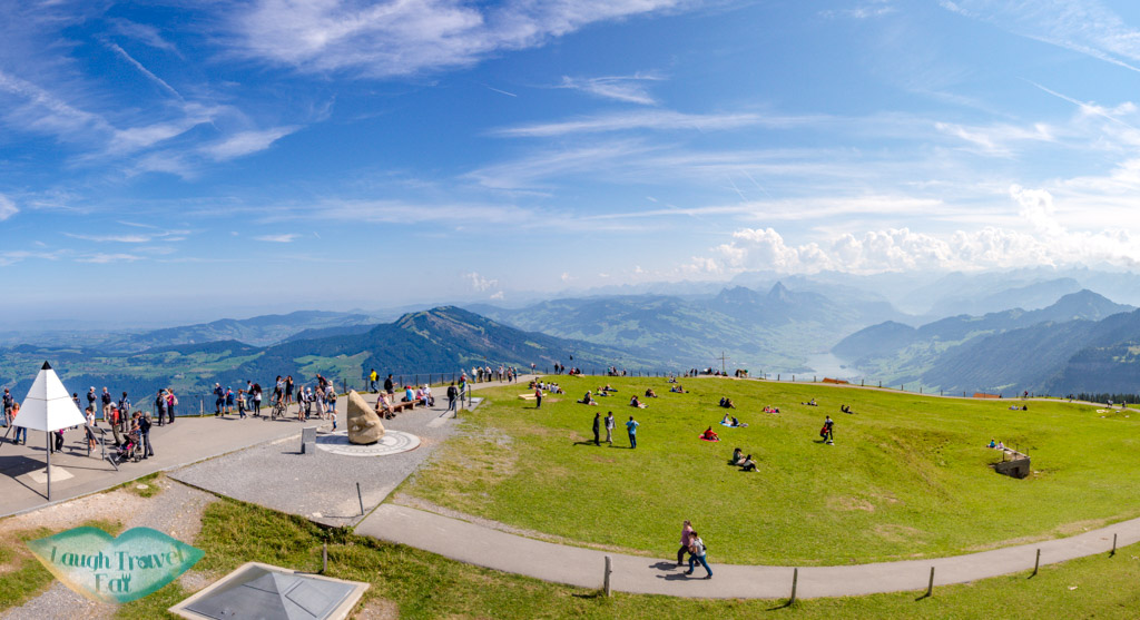 top of rigi kulm lucerne switzerland - laugh travel eat