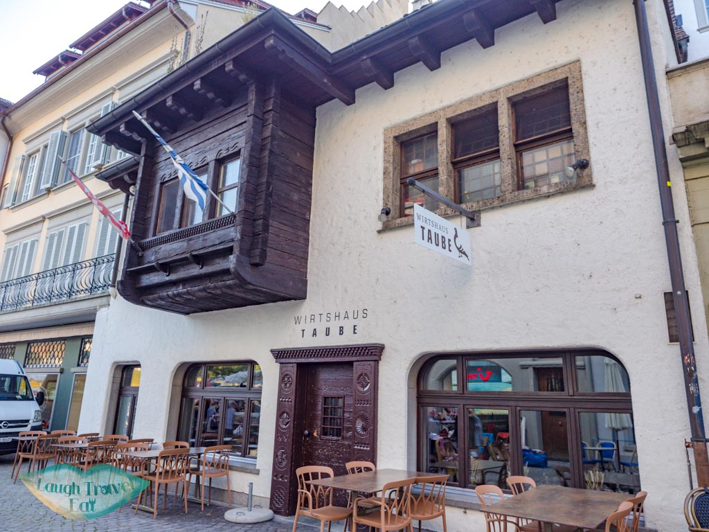 wirtshaus taube lucerne switzerland - laugh travel eat