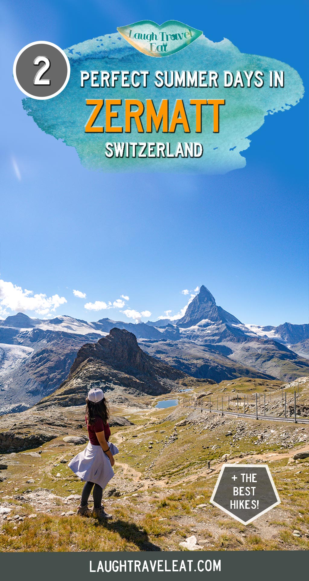 Zermatt in summer might not be as popular as it is in winter, but this mountain town by the Switzerland-Italy border is a hiker's paradise too. I only have two days here and I was determined to make the most out of it - and here's a complete guide on things to do in Zermatt in the summer: #Zermatt #Matterhorn #Switzerland