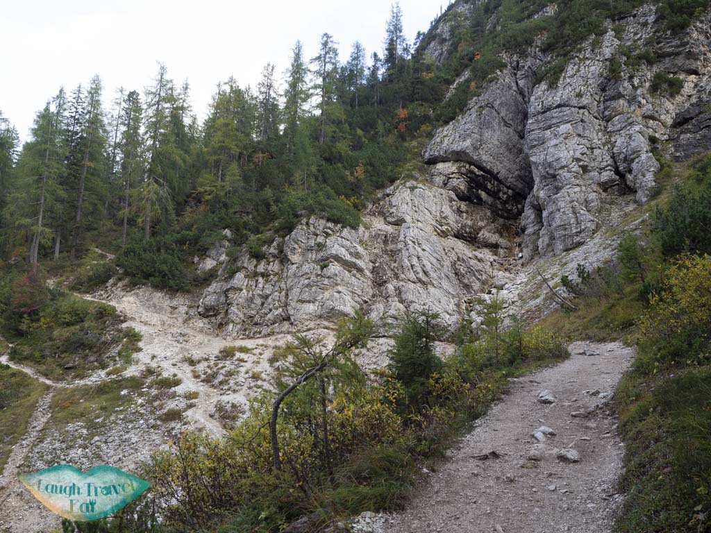 after first stream lake sorapis hike cortina d'ampezzo dolomites italy - laugh travel eat