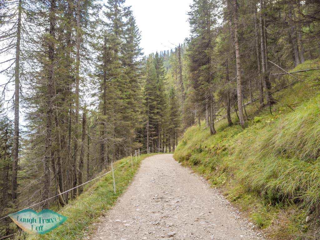 beginning of lake sorapis hike cortina d'ampezzo dolomites italy - laugh travel eat