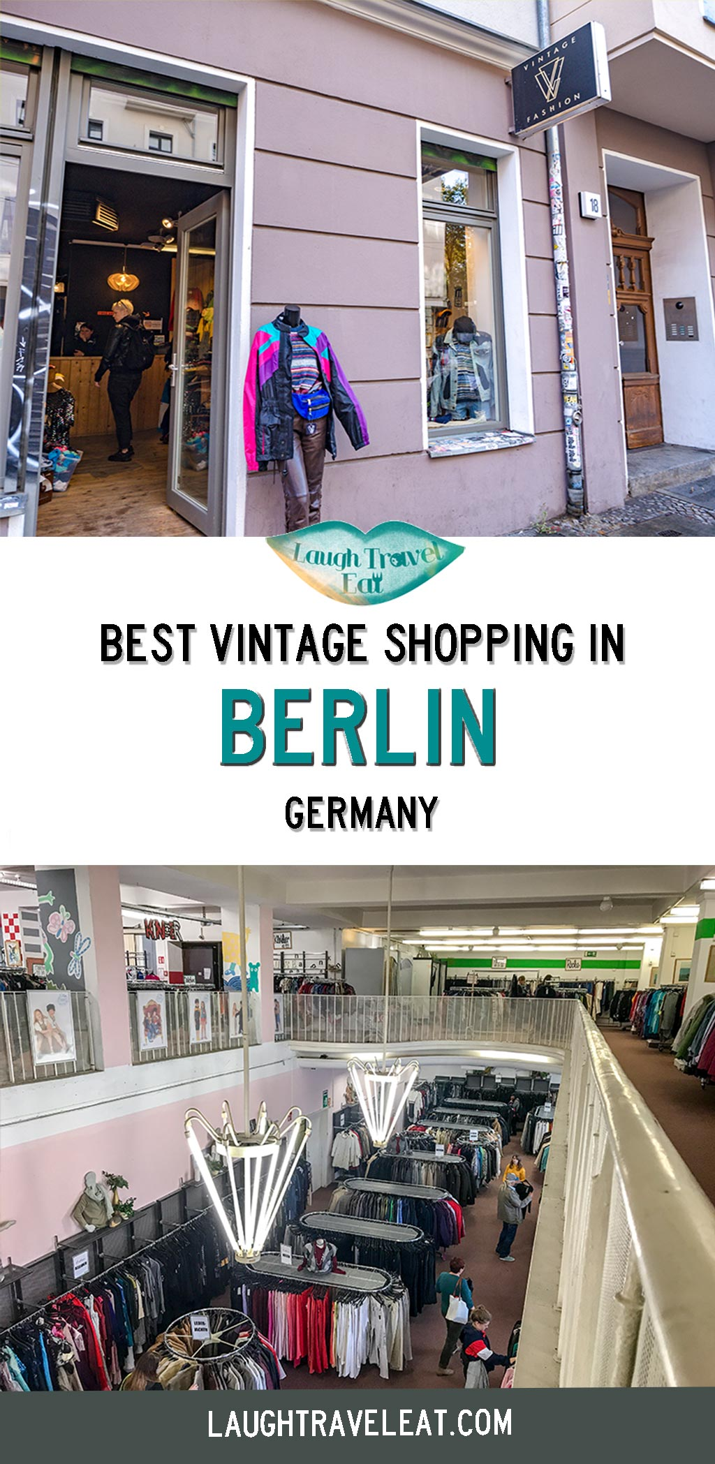 Vintage shopping is one of my guilty pleasures and there's nowhere better to indulge in it than Berlin. Markets are a great start, however, most only run on Sunday. Berlin has one of the best vintage shopping in Europe that I've seen, whether you are looking for something thrifty and cheap or authentic and unique, there's a place. So here is a list of my favorite Berlin thrift and vintage stores. #Berlin #Vintage #Shopping