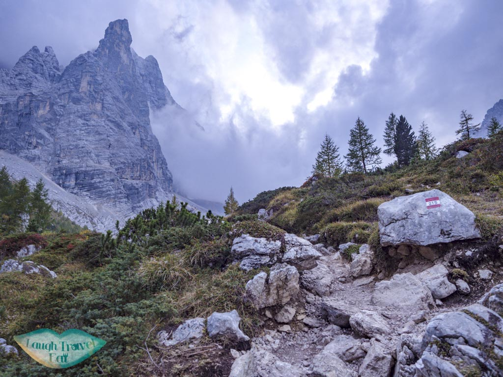by lake sorapis hike cortina d'ampezzo dolomites italy - laugh travel eat