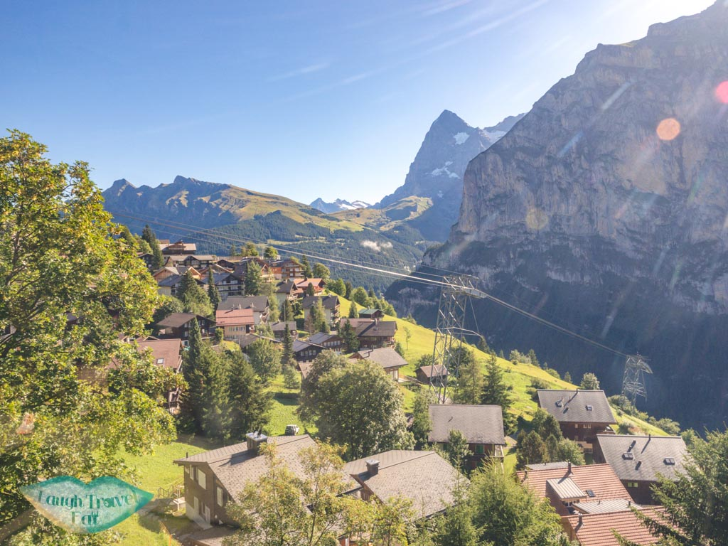 cliff lauterbrunnen switzerland - laugh travel eat