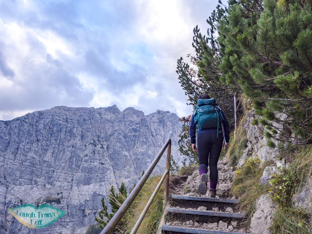 cliff-side walk section lake sorapis hike cortina d'ampezzo dolomites italy - laugh travel eat-3