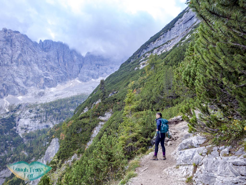 cliff-side walk section lake sorapis hike cortina d'ampezzo dolomites italy - laugh travel eat-5