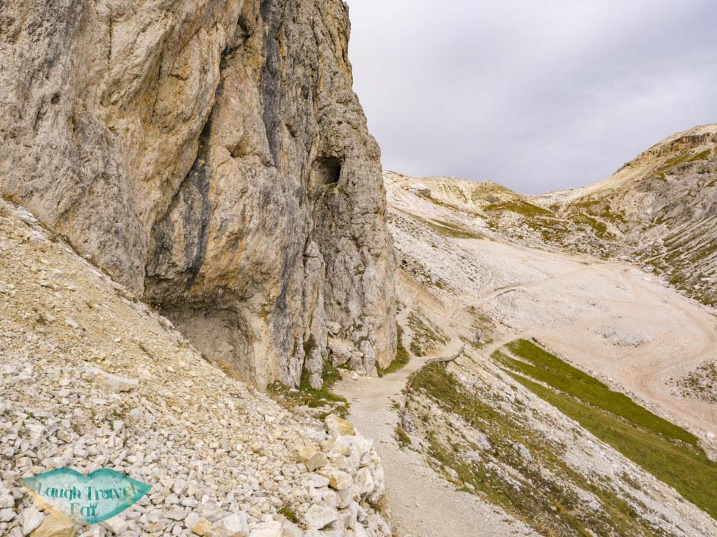 hiking up from lower entrance tunnel lagazuoi cortina d'ampezzo italy - laugh travel eat-4