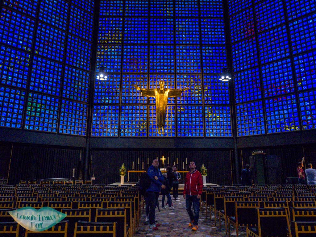 kaiser wilhem memorial new church inside berlin germany - laugh travel eat