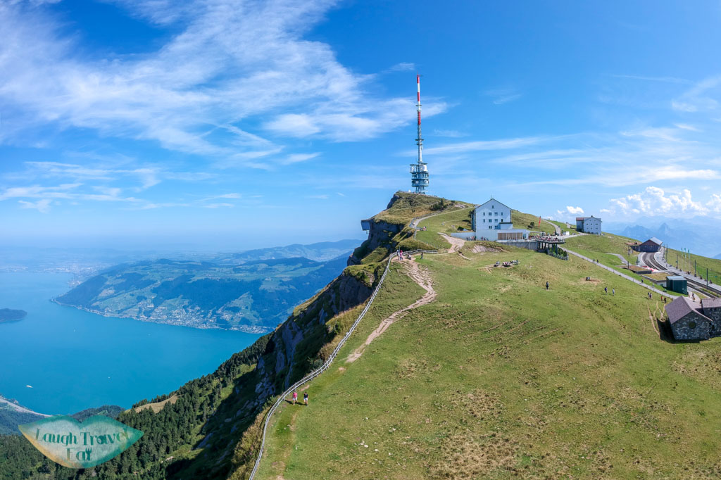 mount rigi drone lucerne switzerland - laugh travel eat