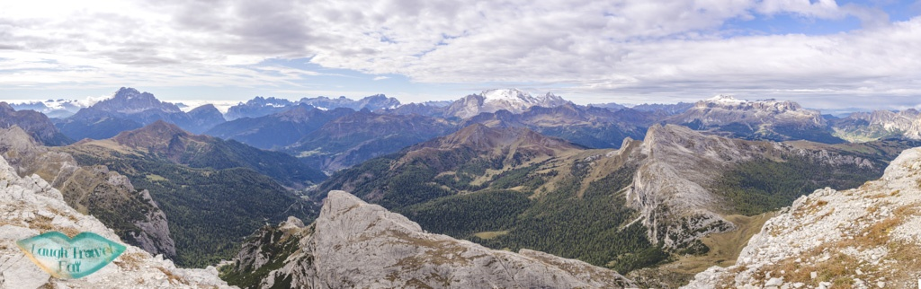 panorama from the austria troop way lagazuoi cortina d'ampezzo italy - laugh travel eat