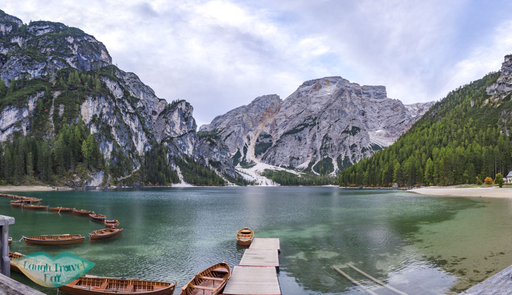panorama lago di braise dolomites italy - laugh travel eat