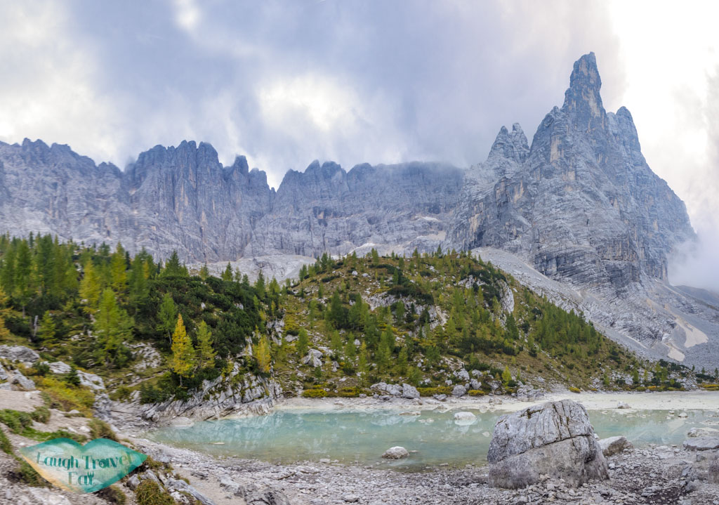 panorama lake sorapis cortina d'ampezzo dolomites italy - laugh travel eat
