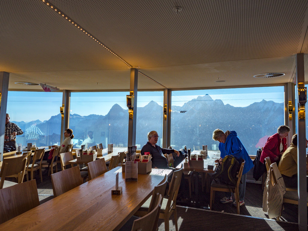 restaurant in piz gloria schilthorn jungfrau region Switzerland - laugh travel eat