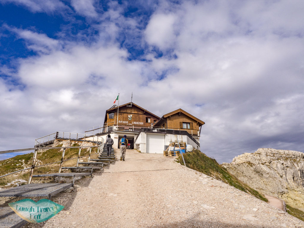 rifugio lagazuoi cortina d'ampezzo italy - laugh travel eat