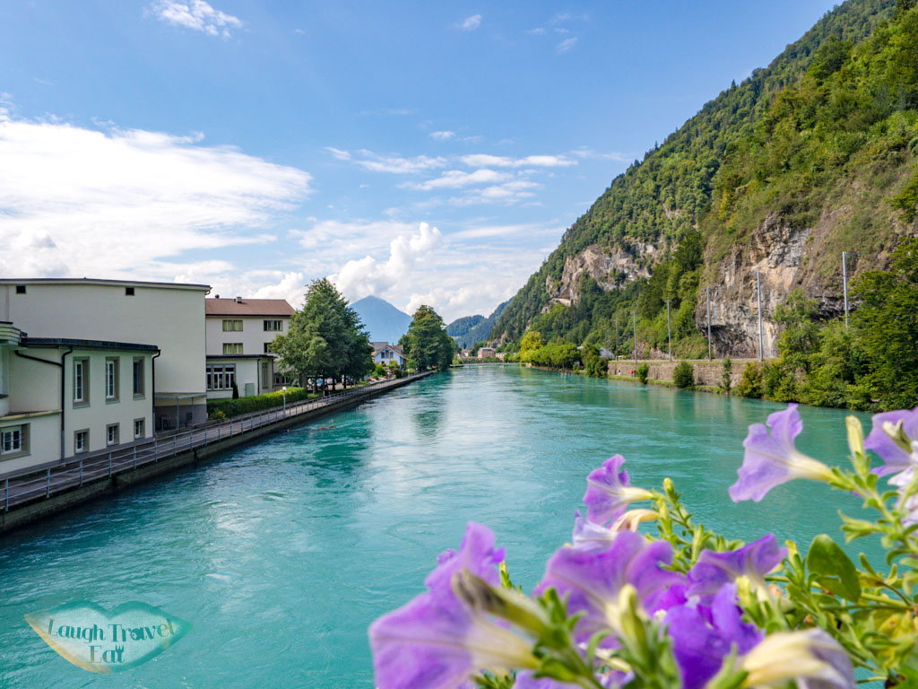 river interlaken Switzerland - laugh travel eat