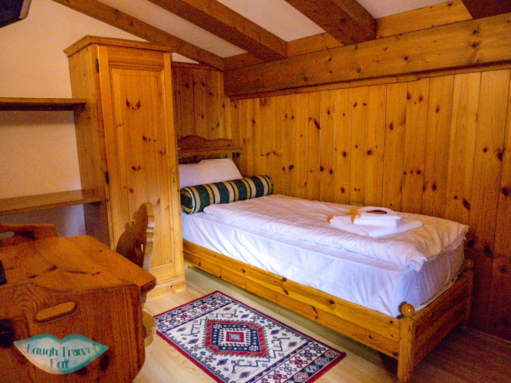 second room ciasa lorenzo cortina d'ampezzo dolomites italy - laugh travel eat