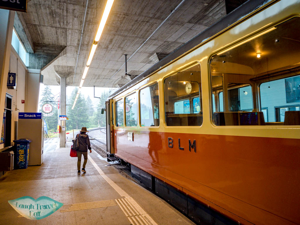 train to murren jungfrau region Switzerland - laugh travel eat