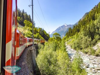 train towards Zermatt Switzerland - laugh travel eat