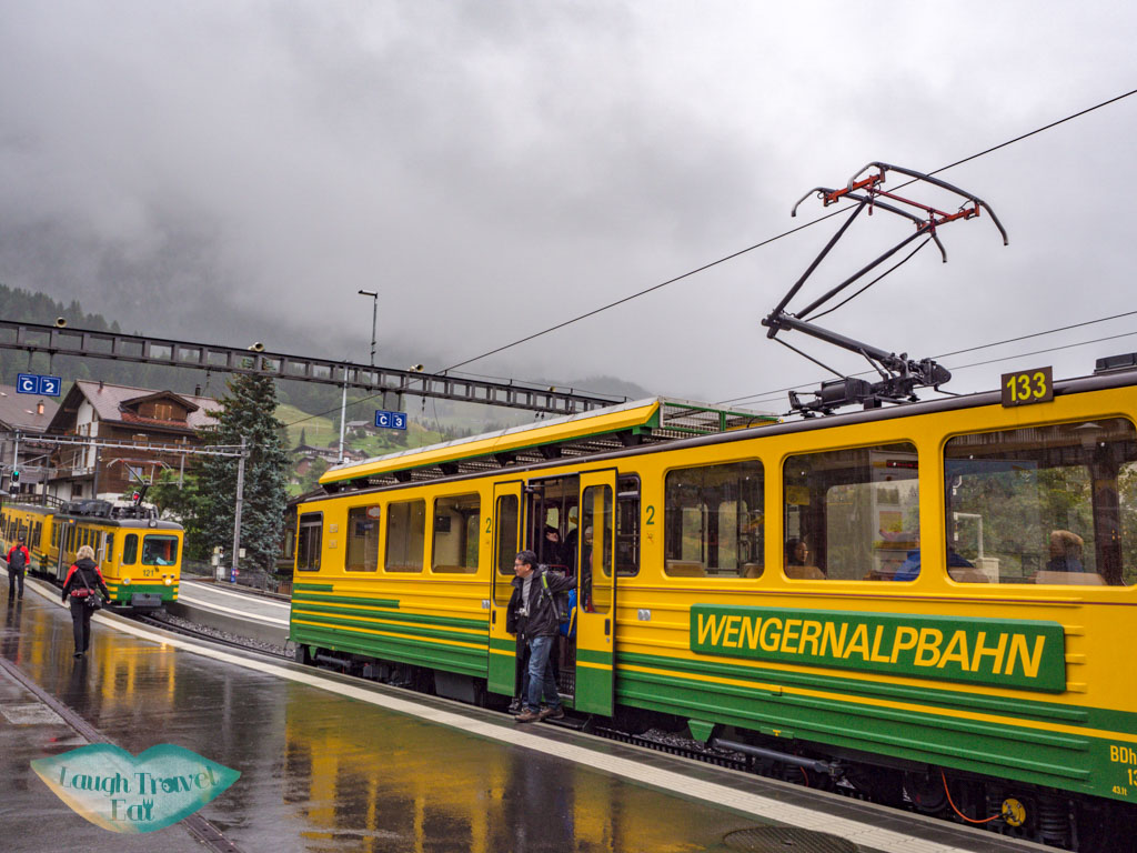 wengen train jungfrau region Switzerland - laugh travel eat