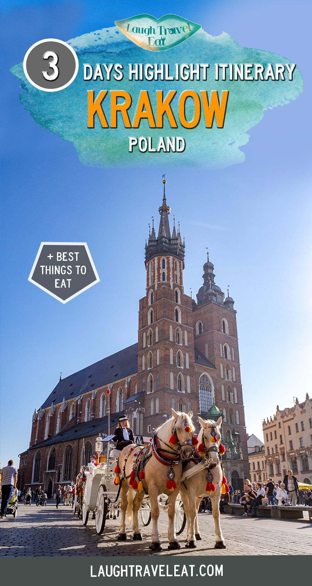 Krakow is one of the best cities to visit in Poland – why? It was the capital before Warsaw and one of the few cities whose old town remain undamaged in WWII. It's the final resting place of many Polish monarchs with a rich Jewish past. The city has surprised me with its historical and colourful architecture and affordability, and three days here is a perfect amount of time to see the highlights #Krakow #Poland