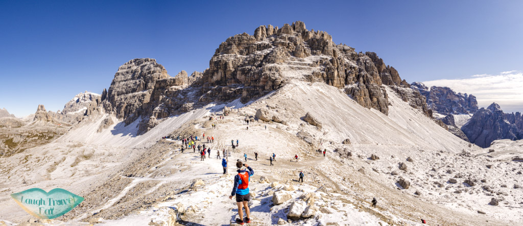 at first pass tre cime di lavorado dolomites italy - laugh travel eat