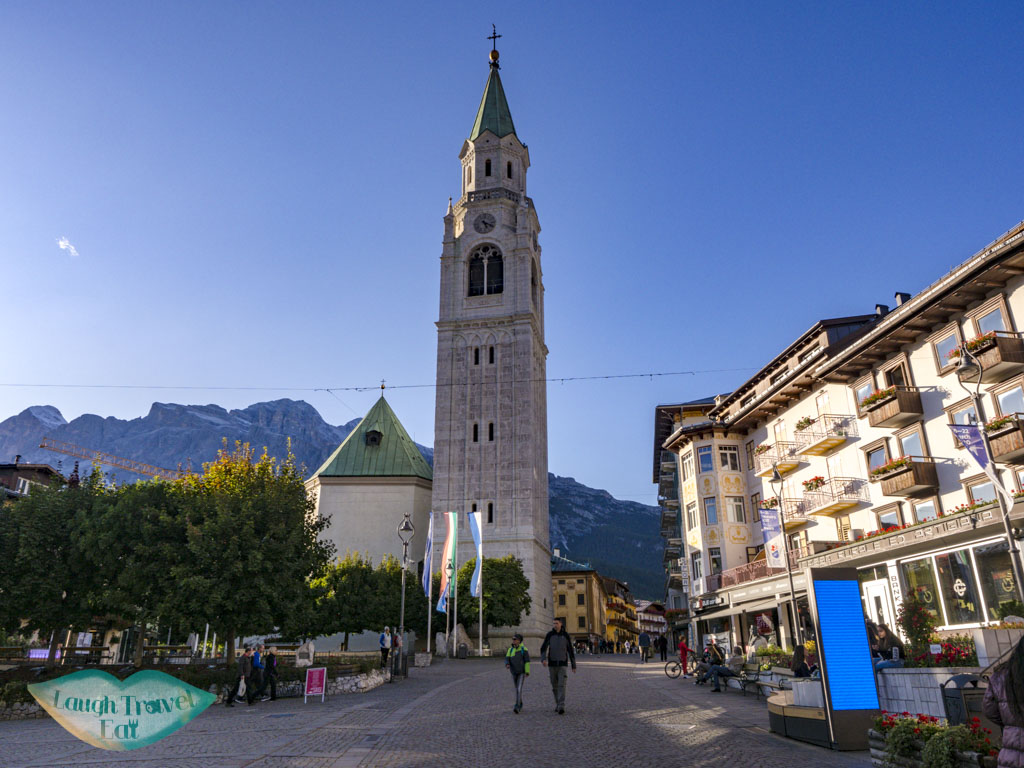 church cortina d'ampezzo italy - laugh travel eat
