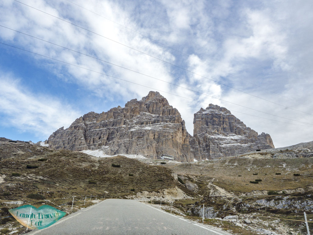 driving to tre cime di lavorado dolomites italy - laugh travel eat