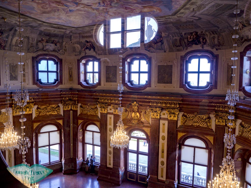 hall in upper beveldere vienna austria - laugh travel eat
