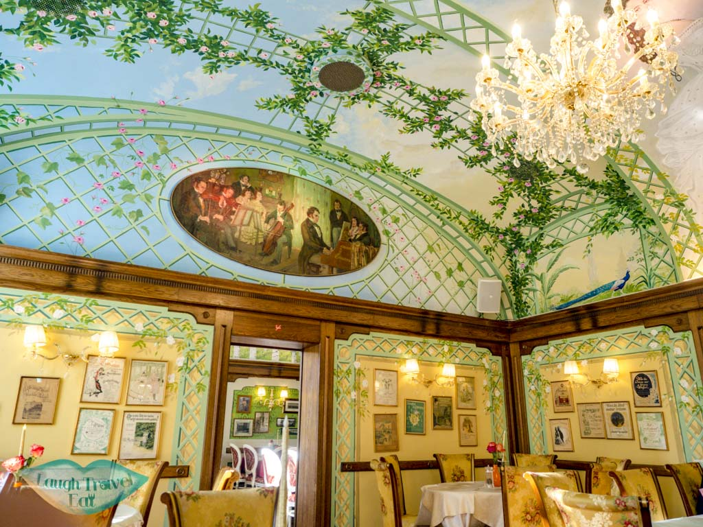 inside restaurant schobrunner stockl vienna austria - laugh travel eat