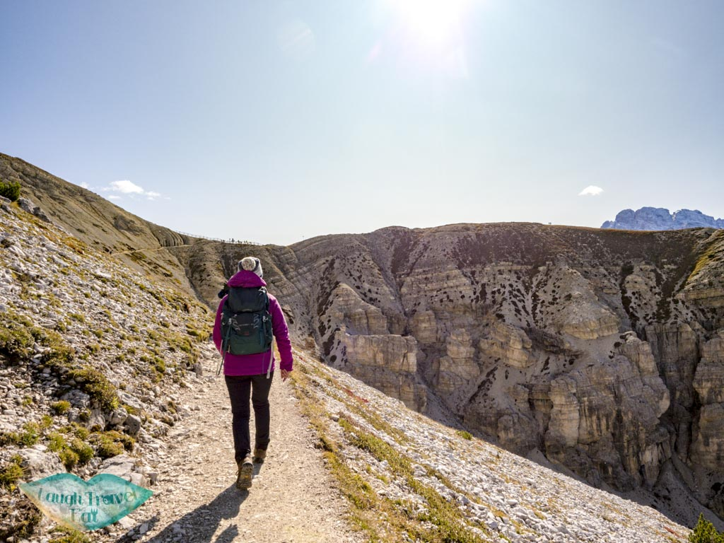 out of valley stretch tre cime di lavorado dolomites italy - laugh travel eat