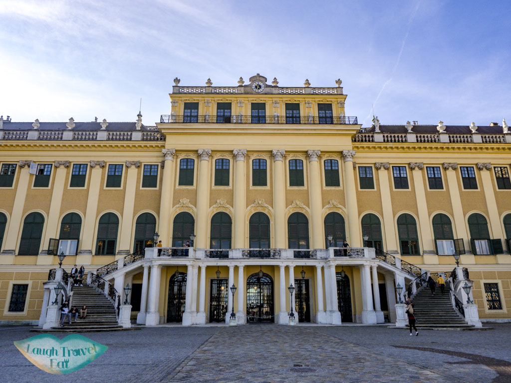 schobrunn palace vienna austria - laugh travel eat