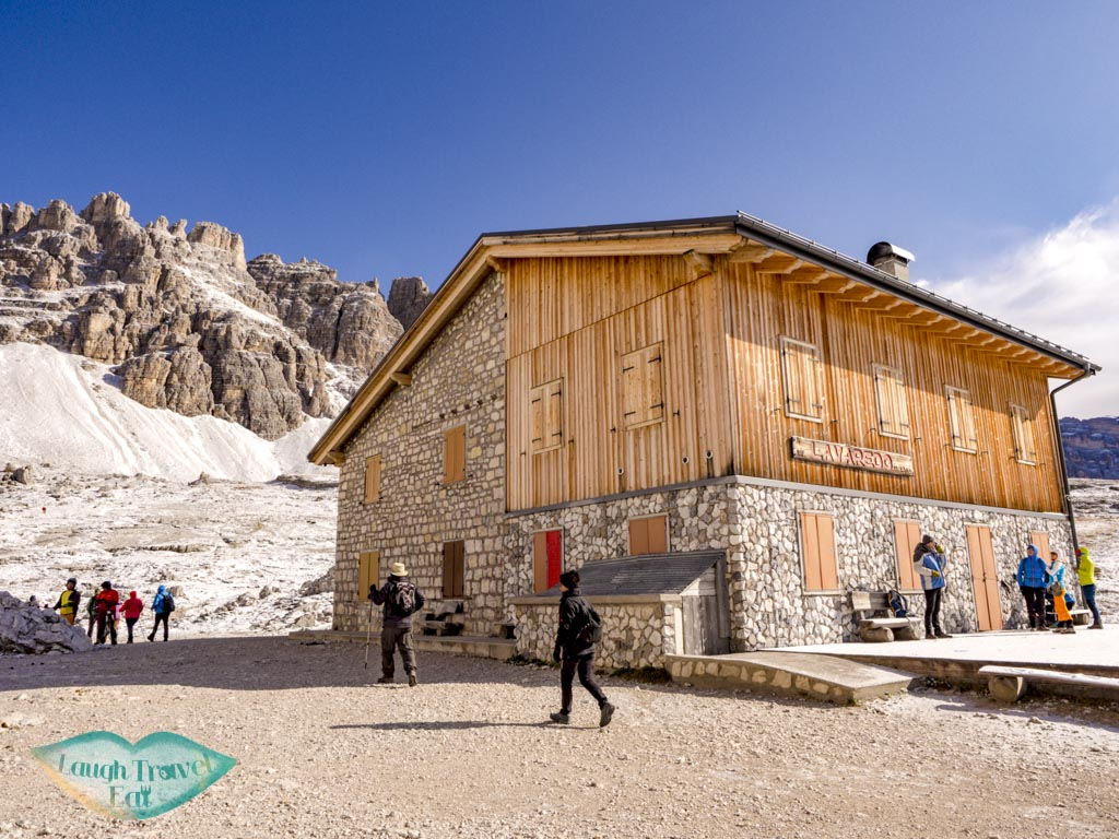 second hut tre cime di lavorado dolomites italy - laugh travel eat