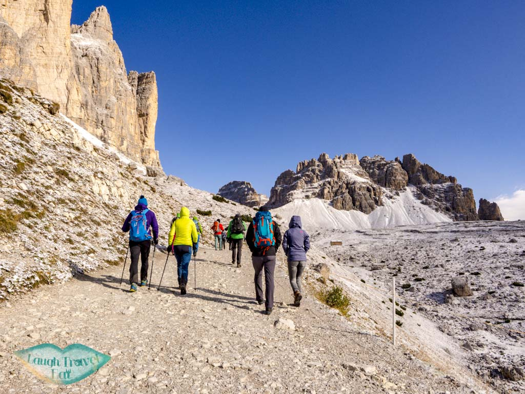 to second hut tre cime di lavorado dolomites italy - laugh travel eat