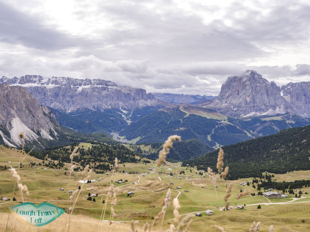 view of valley from seceda ortisei val gardena dolomites italy - laugh travel eat